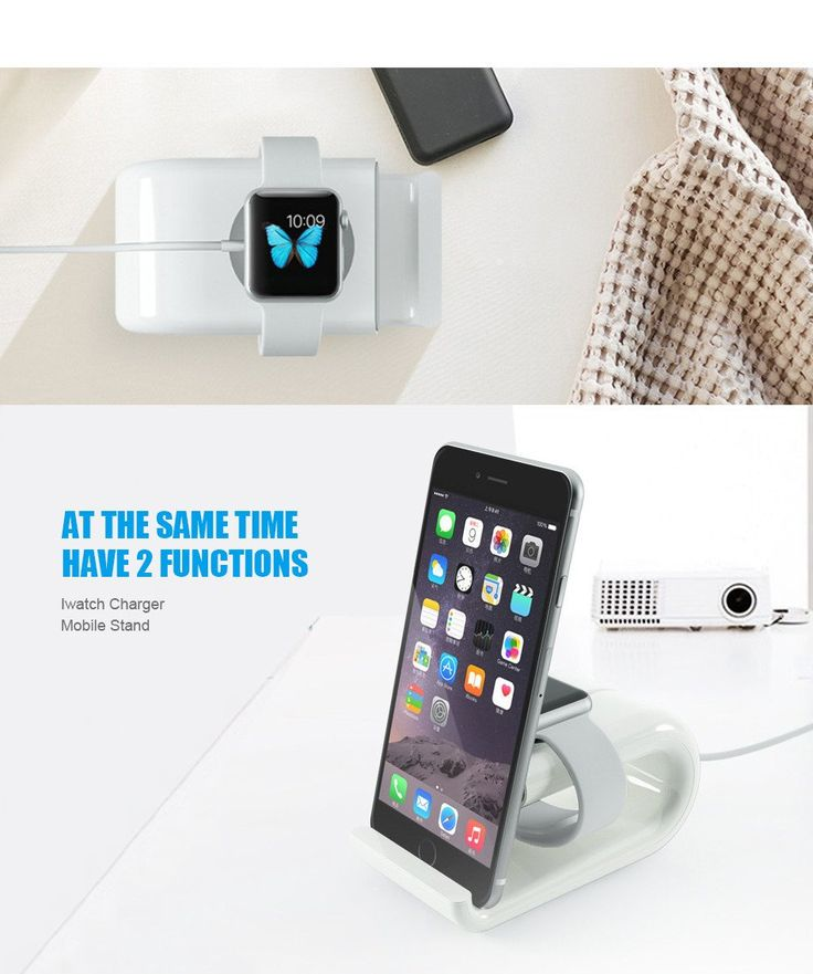 U Shape Charging Dock For iWatch & Stand Holder For Mobile Devices