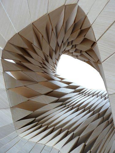 IwamotoScott, RestBox for 2009 Gwangju Design Biennale, wood veneer, interior void accommodates a body in sitting and reclining positions
