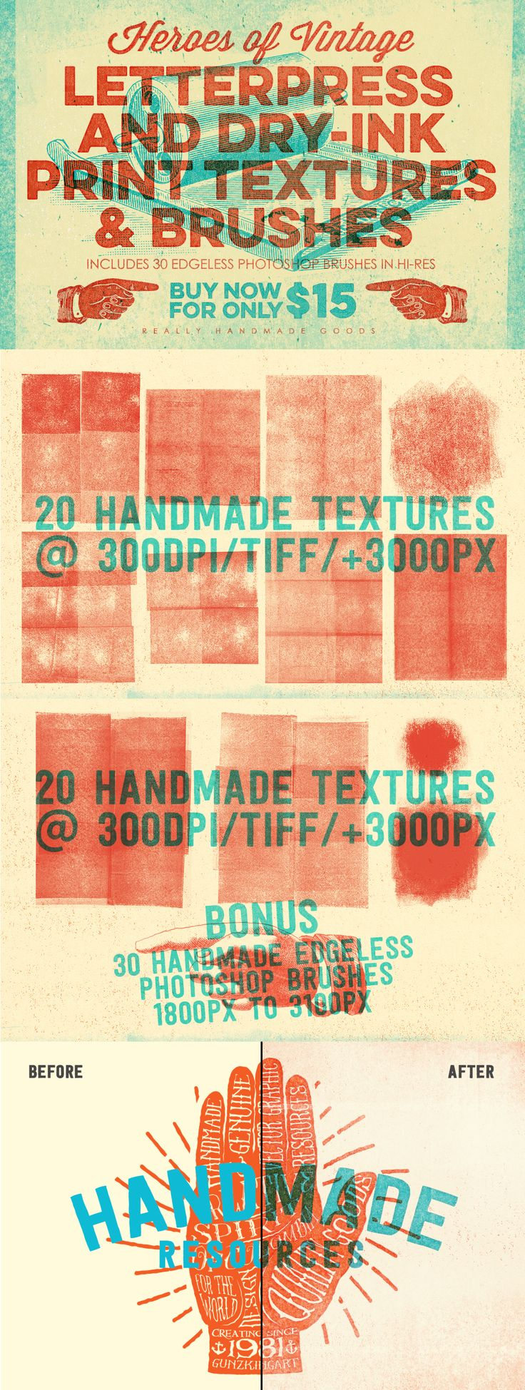 Letterpress & Dry-Ink Print Textures by ThunderPixels