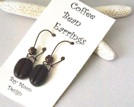 Coffee Earrings  Gift for the Coffee Lover Coffee by BayMoonDesign