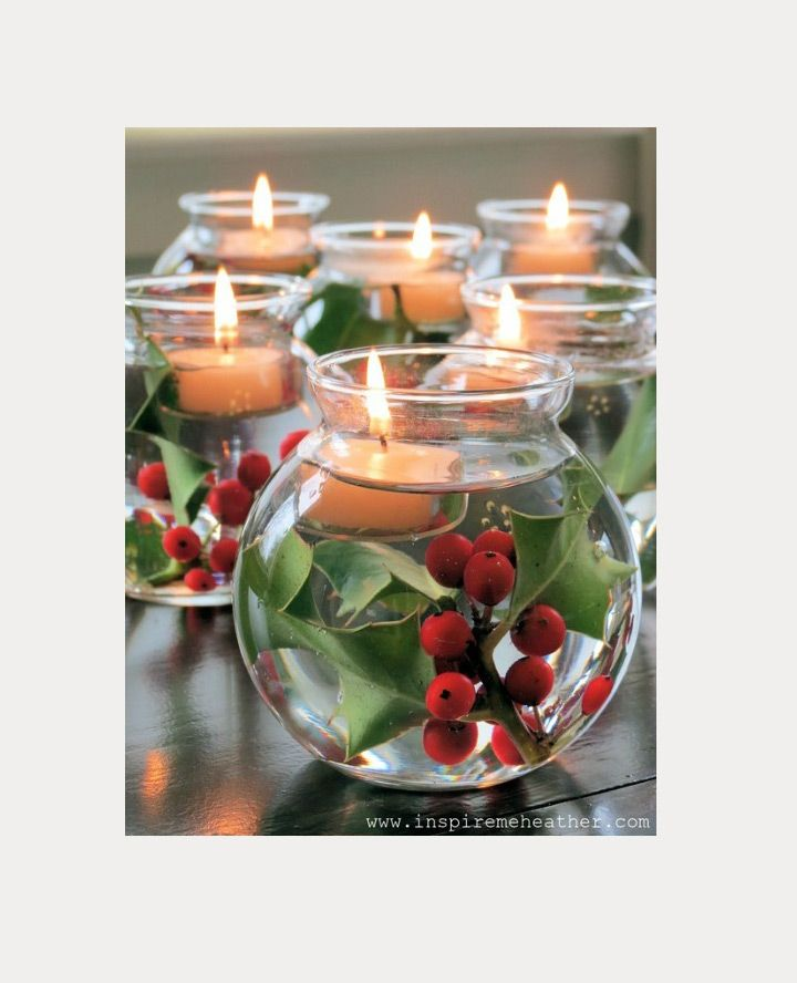 Christmas Candle Centerpiece Ideas 132 best table - christmas and winter images on pinterest