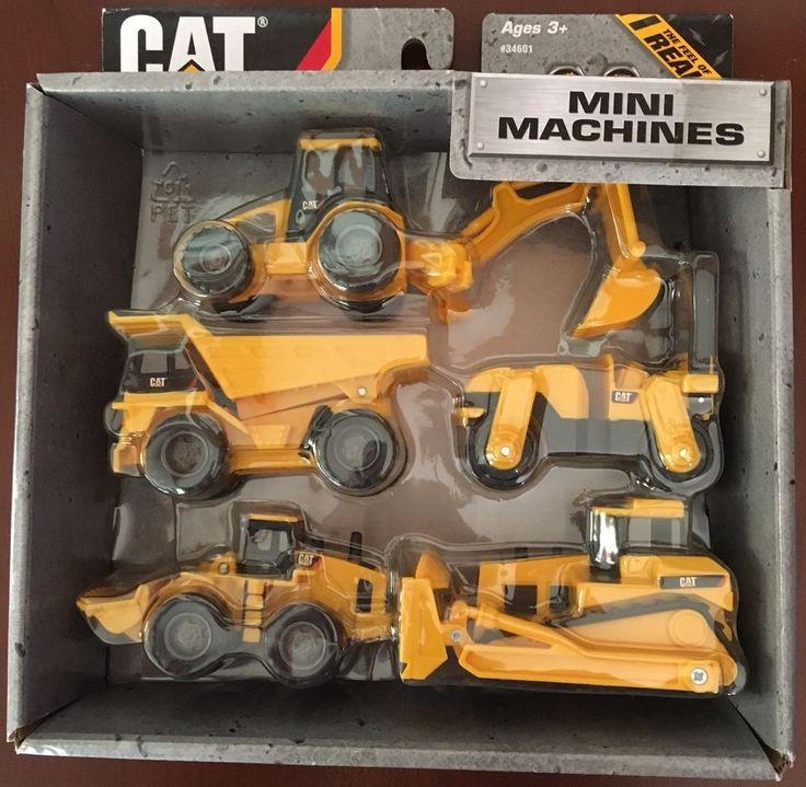 New In Package Caterpillar Toy State CAT Construction Mini Machine 5 Piece Play #ToyState #CAT