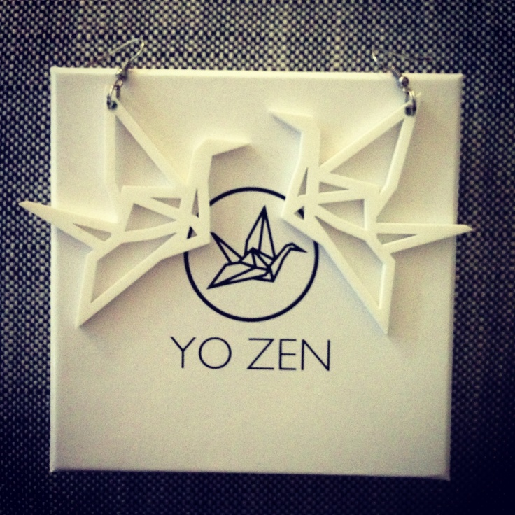 White Swan earrings by YO ZEN