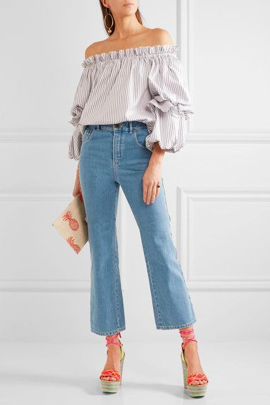 Sophia Webster - Jade Neon Leather And Cork Platform Sandals - Pink - IT41