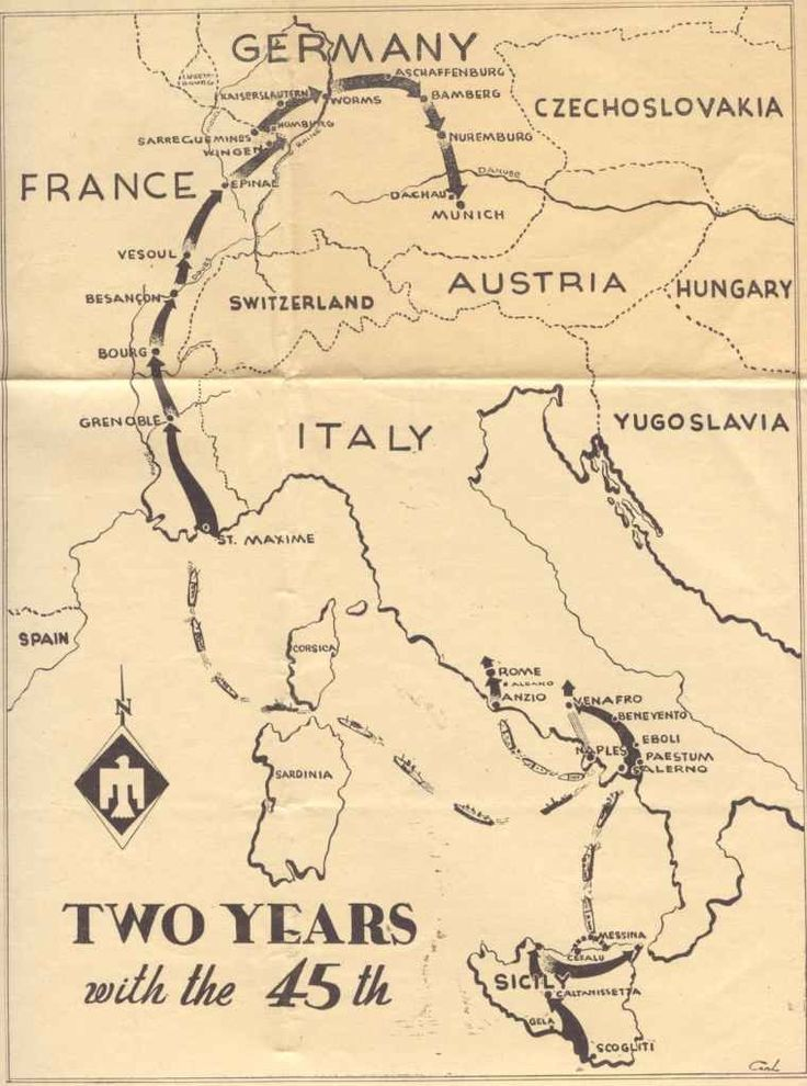 Best Vintage WW II Division Campaign Maps Images On Pinterest - Us map ww2