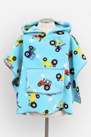 Tractors Polar Fleece Poncho with Pocket & Hood