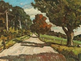 Helmut Gransow Summer Road, Eastern Township Dimensions:  18 X 24 in (45.72 X 60.96 cm) Medium:  oil on canvas Signed