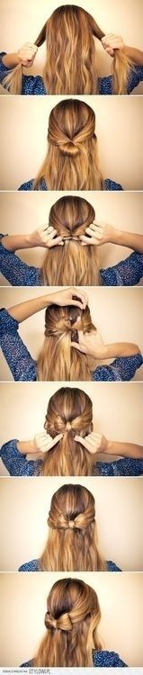 Great step by step hairstyle idea! 💇