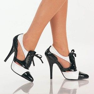 mobster wedding dress | Gangster Pumps - Sexy Gangster Babe Two Tone Eyelet Pumps by... | Shop ...