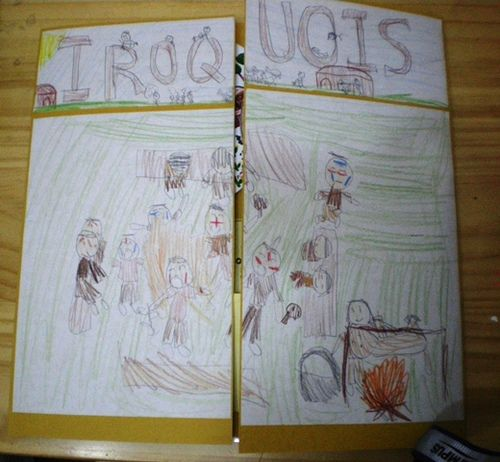 Iroquois lapbook: 47 images with other projects as well ~ Jimmie's Collage