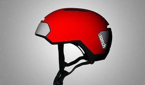 Amazing idea - torch helmet has an integrated LED light in front and back