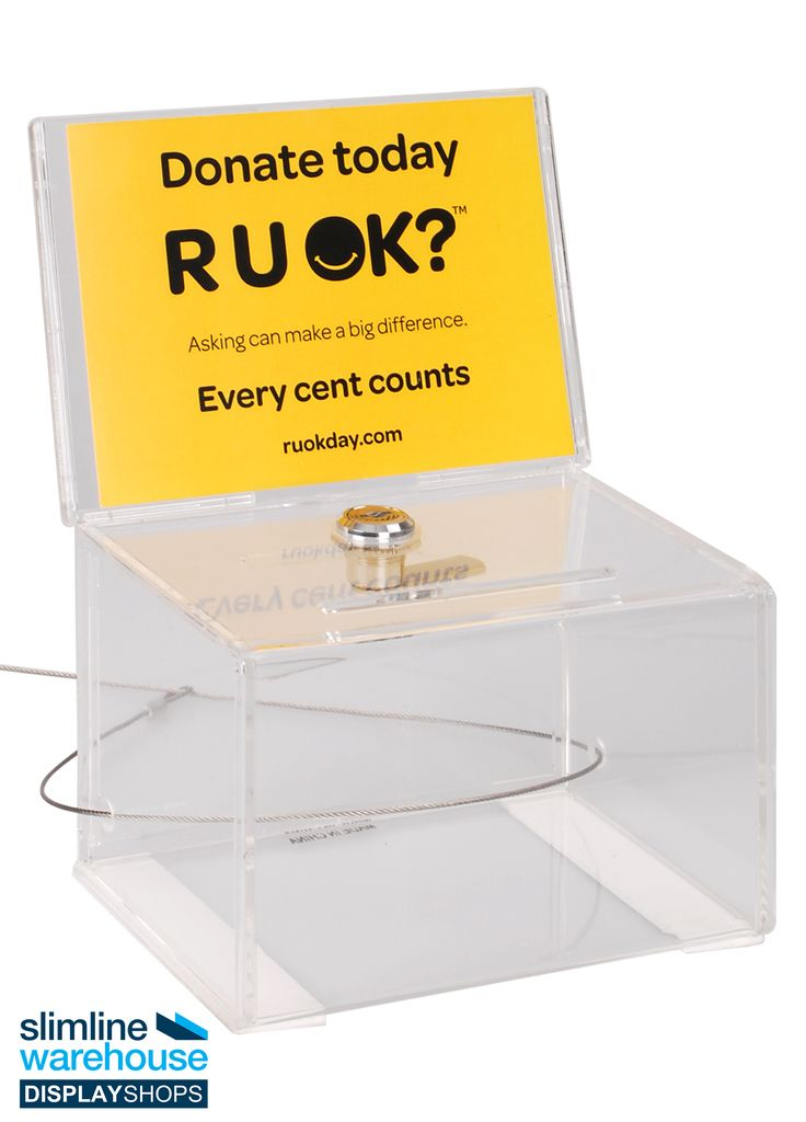 Acrylic Collection Box- This collection box is a useful tool for a number of different locations to gather information or donations from visitors and customers. The suggestion box for work is placed at churches and events to help collection donations or for charity, at restaurants and retail stores to collect suggestions or comments from patrons, and even at offices to collect ideas from employees!