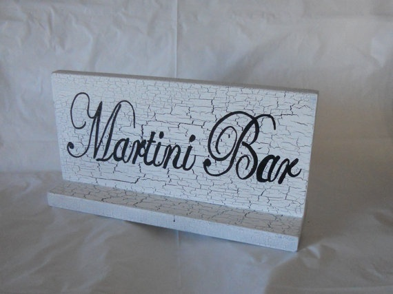 Martini Bar Table Top Sign. $19.00, via Etsy.