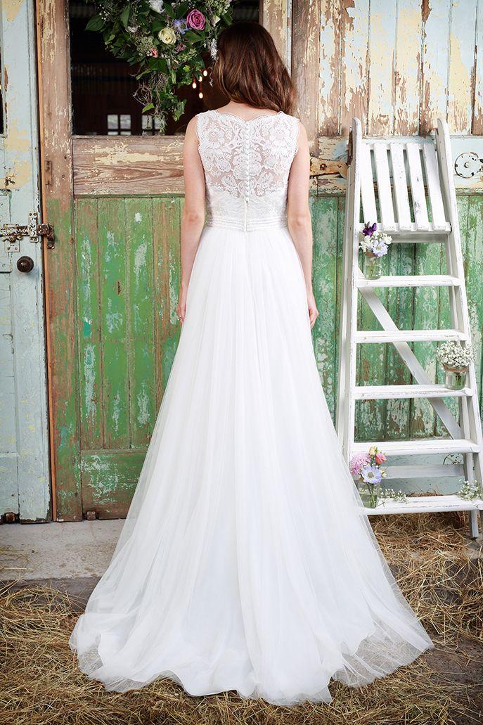 Chantilly   Chantilly   tulle   chantilly lace  a line   slink wedding dress   floaty wedding dress  amanda wyatt   Amanda Wyatt