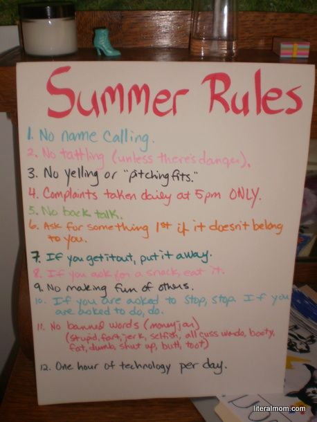 46 Best Rules For Kids Images On Pinterest Family Rules