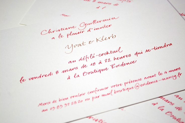 Yvat and Klerb teamed up with Billiotte and Co to design a unique calligraphical lettepress invite.