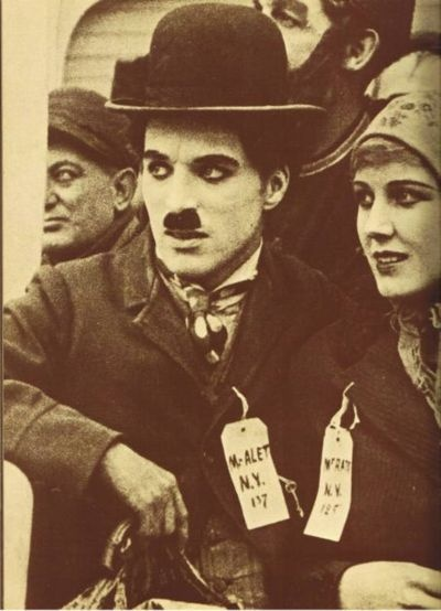 Charlie and Edna in The Immigrant c.1917