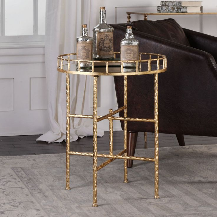 Uttermost Tilly Bright Gold Accent Table - 24711