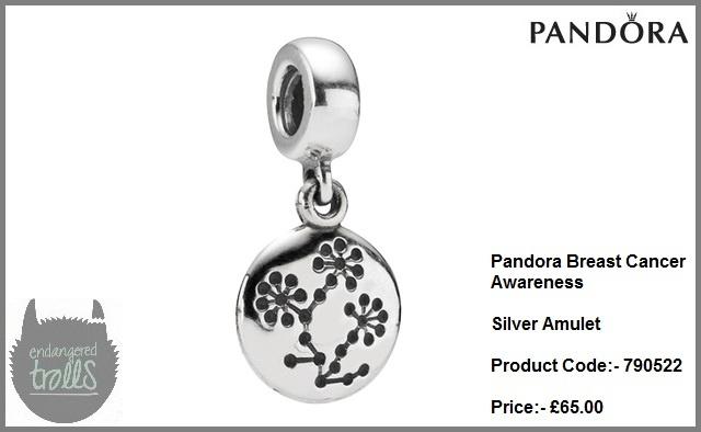 Pandora Breast Cancer Awareness Silver Amulet