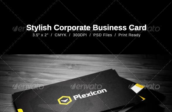 Desain Kartu Nama Perusahaan - Stylish Business Card
