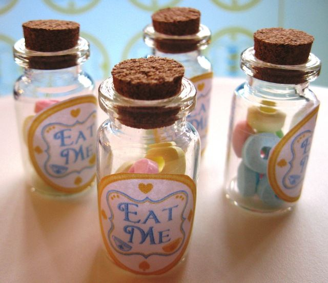 Love these favors at an Alice in Wonderland Birthday Party! See more party ideas at CatchMyParty.com!