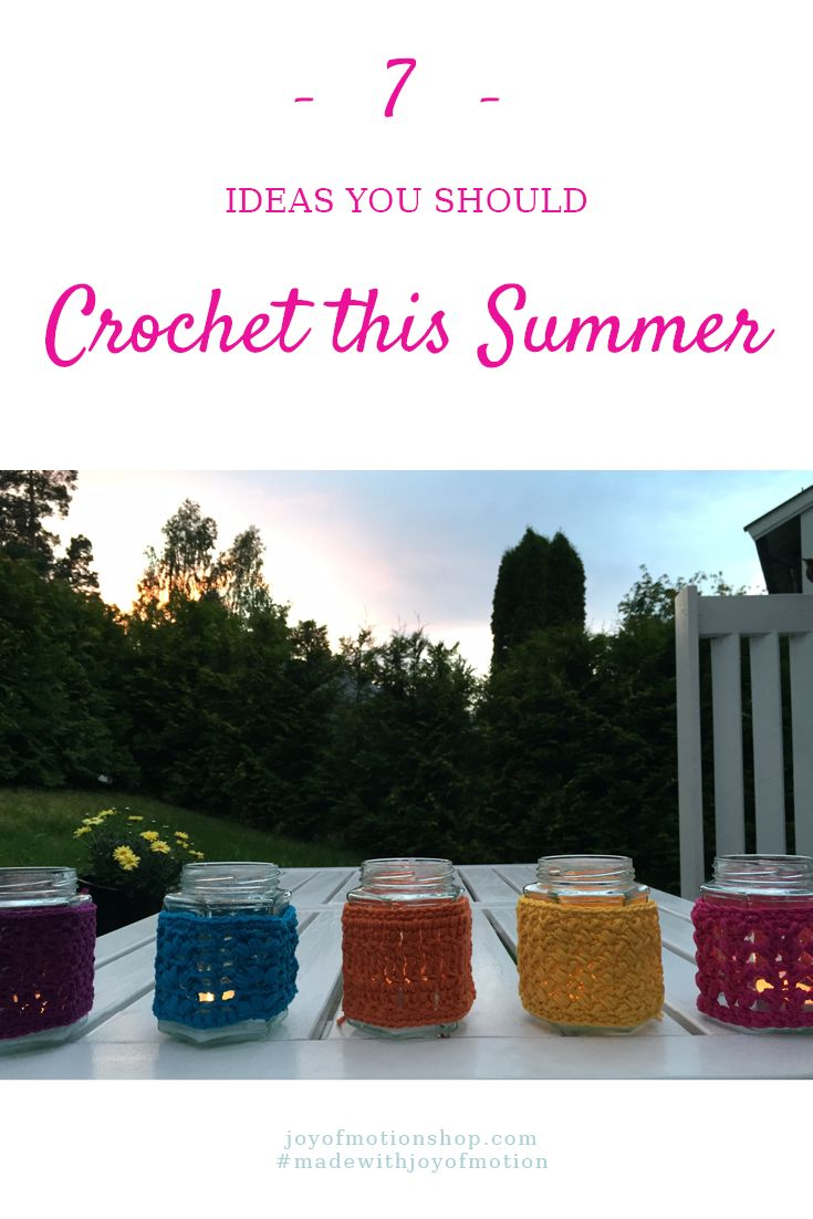 7 ideas you should crochet this summer. Find crochet ideas with Joy of Motion. Crochet for beginners. Crochet Gifts. Crochet ideas. Easy crochet ideas. Free crochet ideas. Free crochet inspiration. Crochet ideas for beginners. Crochet ideas for experienced crocheters. Crochet ideas to sell. Crochet ideas for home. Crochet ideas for her. Crochet inspiration creative. Crochet inspiration projects. Crochet inspiration patterns. Repin this to read, learn & keep it forever.