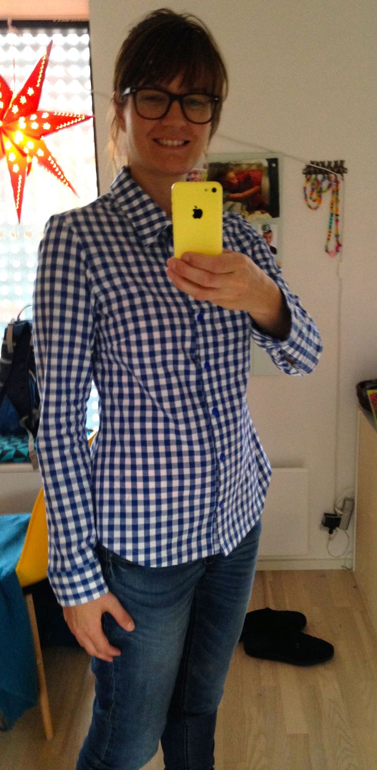 Granville shirt - first one. Pattern needs a few adjustments, but happy with it :)