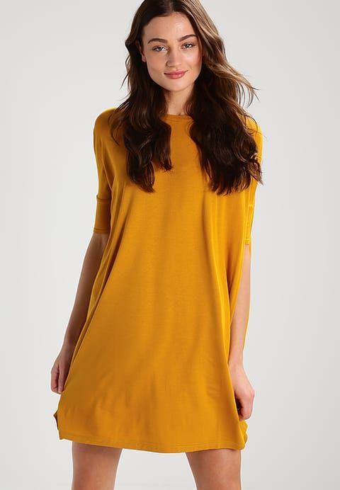 New Look Sukienka z dżerseju - dark yellow - Zalando.pl