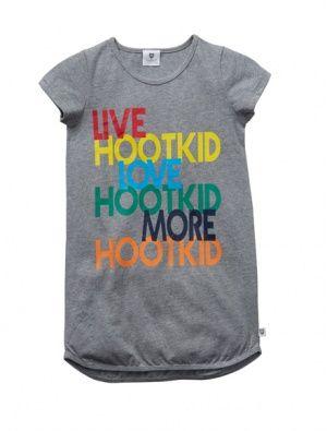 Buy Hootkid Talk To Me Dress Grey Marle