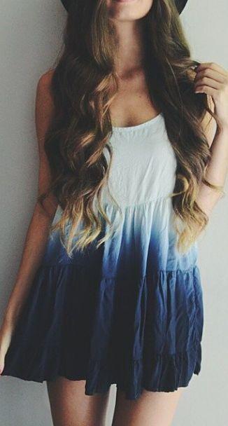 El degradado en este vestido es muy lindo