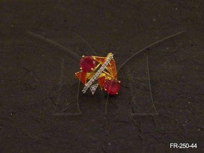 FR-250-44 || TRIANGULAR ROUND SHAPE AD FINGER RINGS