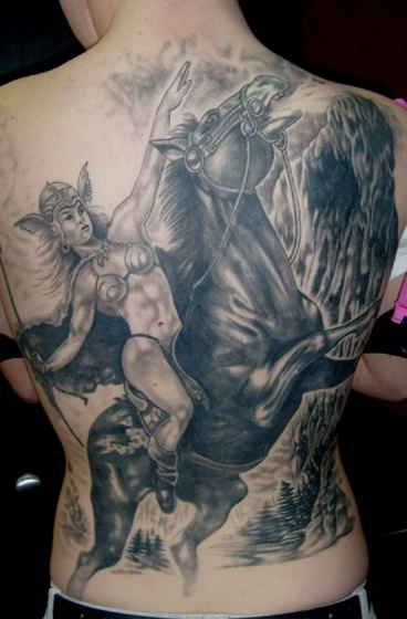 valkyrie tattoo back   alteredrealitytattoo   tattoo