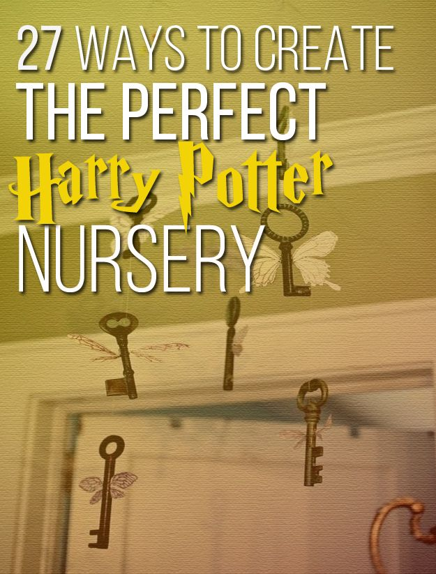 27 Ways To Create The Perfect Harry Potter Nursery