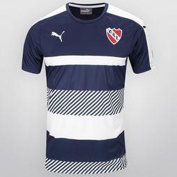 Remera de Entrenamiento Puma Independiente 2016/17 - Azul-Marino+Blanco