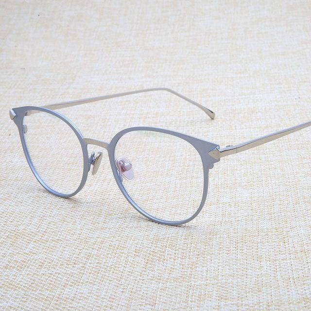 cbad550ee B Do Vintage Óculos Redondos Óculos de Armação de Metal Óptico Para Óculos  Mulheres Homens Gafas Óculos Eyewear Óculos UNISEX PRETO ROSA Loja Online  ...