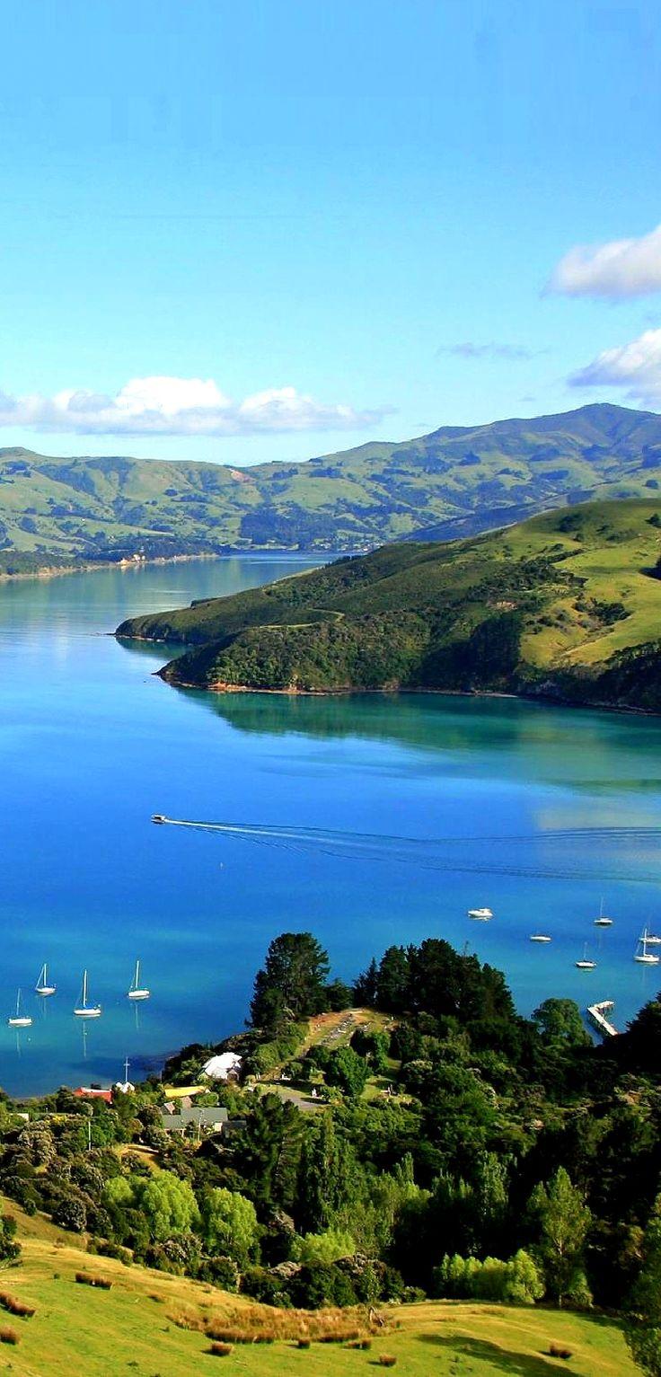 AKAROA.    Waterfront at beautiful Akaroa, app 1 hour's drive E of Christchurch, New Zealand