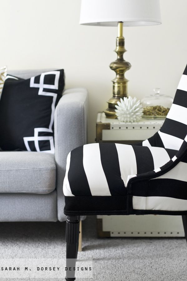 black and white stripe chair - Black And White Chairs Living Room