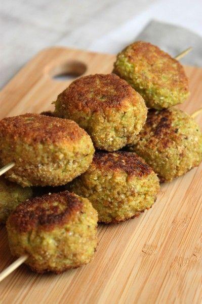 Croquettes de poivron vert, courgette et flocons d'avoine (avec ou sans Cook'in)