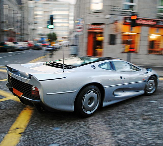 Jaguar XJ220  My favorite car (well in the top 5 ) because it looks so differant than any other Jaguar before or since.