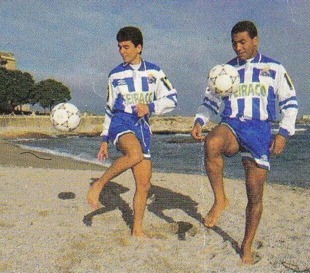 Presentación de Bebeto y Mauro Silva en la Playa de Riazor (1992)