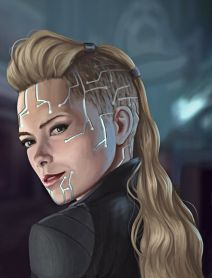 Female Human Shadowrunners Portraits from Shadowrun Returns and Shadowrun Dragonfall.