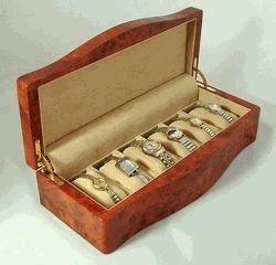 Ragar 6 Watch Box in Faux Burl - Sale: $185.00