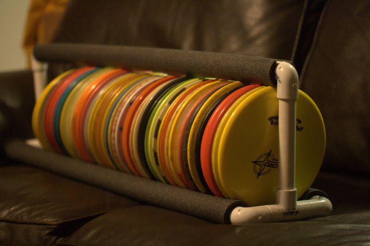 PVC Disc Organizer Storage Rack - Disc Golf Course Review