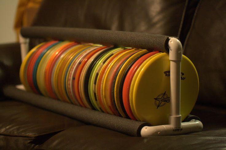 PVC Disc Organizer Storage Rack - Disc Golf Course Review