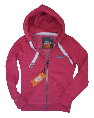 Superdry Womens Orange Label Premium Ziphood - Lex Purple & Paradise Pink – Perfect Present! £49.95  http://moyheelandtraders.com/products/superdry-womens-orange-label-premium-ziphood-lex-purple-paradise-pink-grit