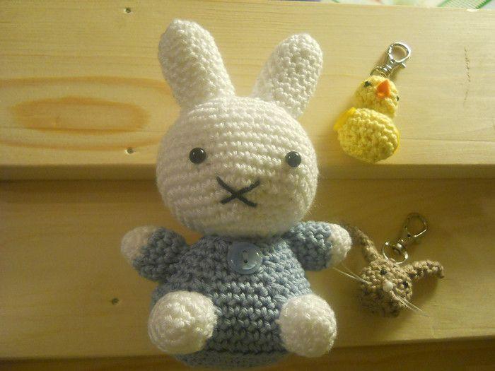 #haken, gratis patroon, Nijntje, #crochet, free pattern (Dutch), amigurumi, bunny