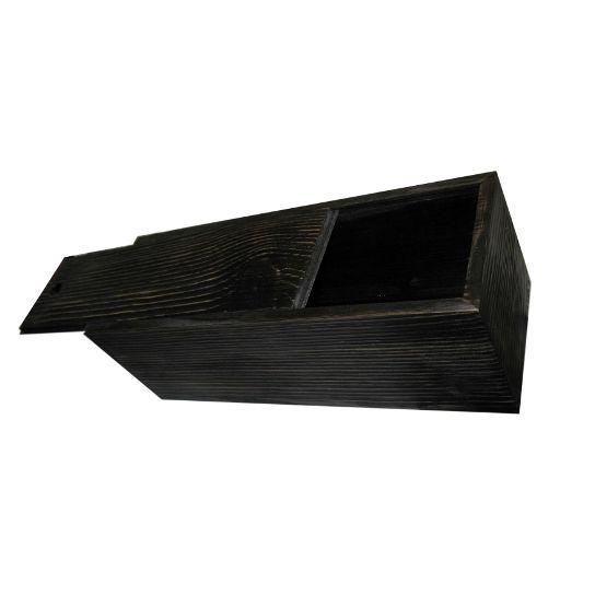 Деревянный пенал из сосны. Тонировка в черный цвет – Стильная упаковка