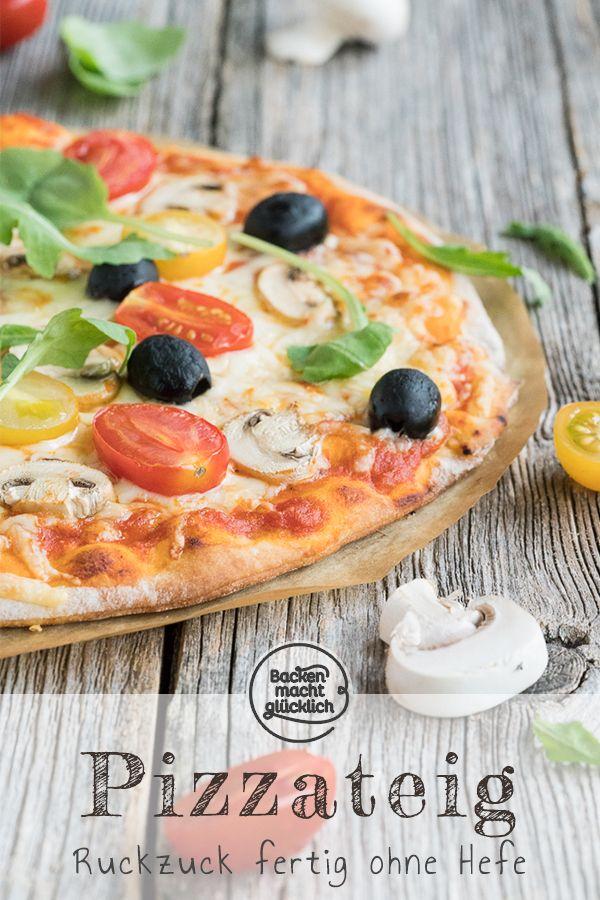 Rezepte fur pizzateig ohne hefe