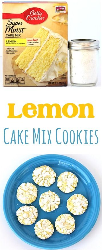 Lemon Crinkle Cookies Recipe!  This EASY Cake Mix Cookie takes just 4 ingredients, and they're beyond delicious!!  And yes... seriously addictive!