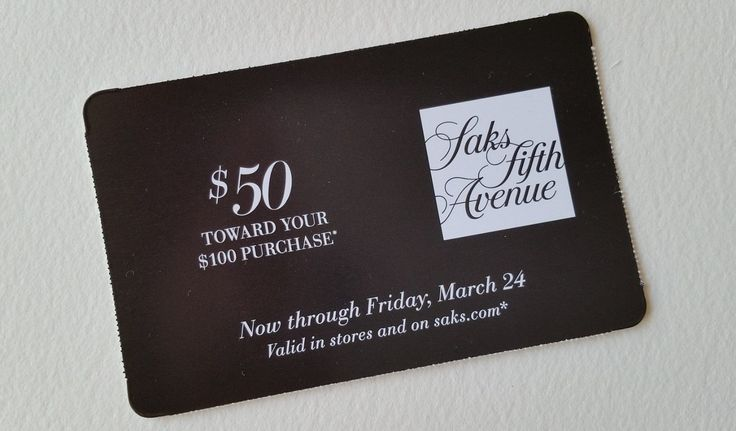 Coupons giftcards saks fifth avenue gift cardcoupon for